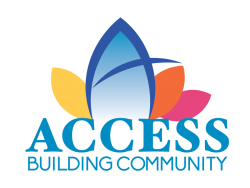 Access building community logo