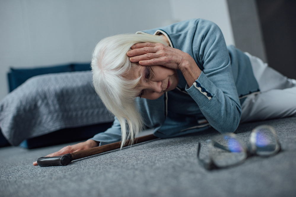 Elderly Falling Out of Bed